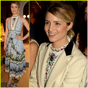 Dianna Agron Flashes Her Engagement Ring During LFW