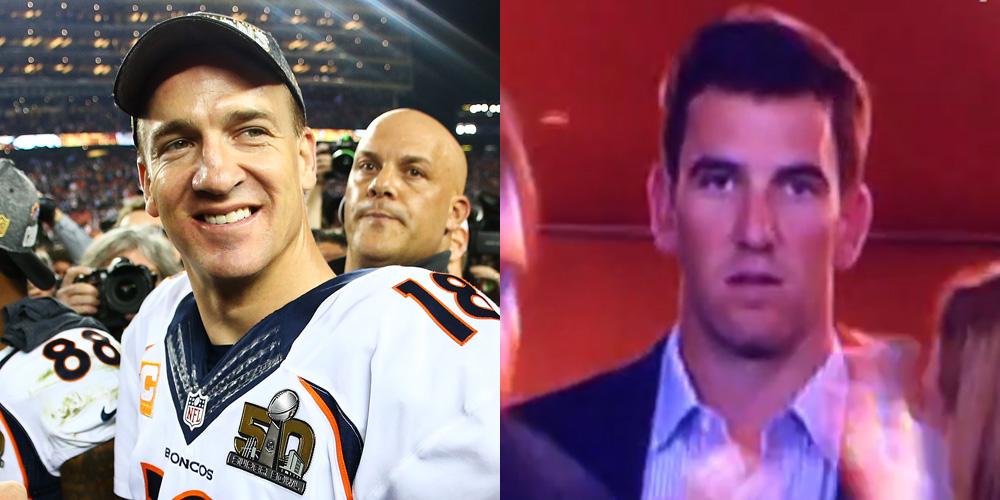Eli Manning Explains Somber Reaction to Peyton's Game Winning Super Bowl 2016 Touchdown