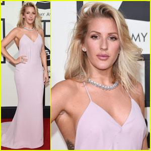 Ellie Goulding is a Pink Goddess at Grammy Awards 2016