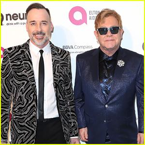 Elton John & Husband David Furnish Host Annual Oscar Viewing Party!