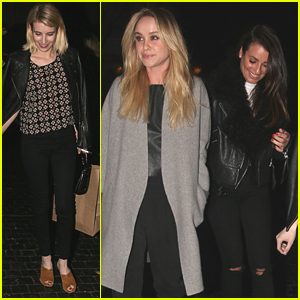 Lea Michele Makes it a Girls Night Out With Emma Roberts & Becca Tobin