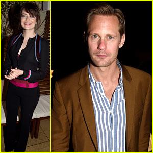 Emma Stone & Alexander Skarsgard Attend Star-Studded Pre-Oscar Party