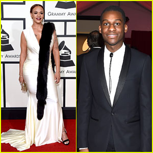 Faith Evans & Leon Bridges Are Classic in Black & White at Grammys 2016