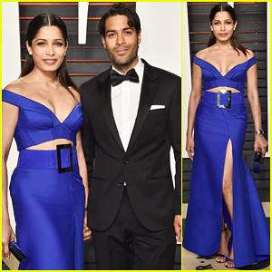 Freida Pinto & Boyfriend Ronnie Bacardi Make First Official Appearance At Vanity Fair's Oscar Party 2016!