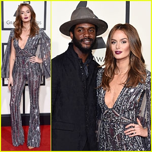 Gary Clark Jr. & Nicole Trunfio Hold Hands on Grammys 2016 Red Carpet