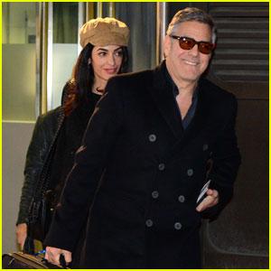 George Clooney & Amal Arrive in Berlin for Film Festival 2016