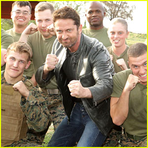 Gerard Butler Accepts Invite to Marine Corps Ball (Video)