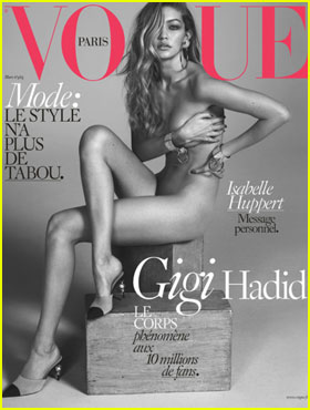 Gigi Hadid Bares It All on Sexy First 'Vogue Paris' Cover
