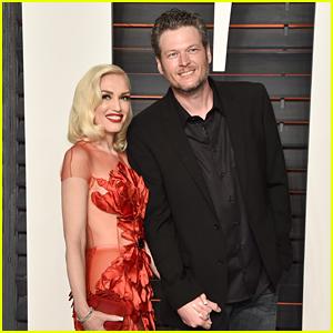 Gwen Stefani & Blake Shelton Are a Hot Couple at Vanity Fair Oscars Party 2016
