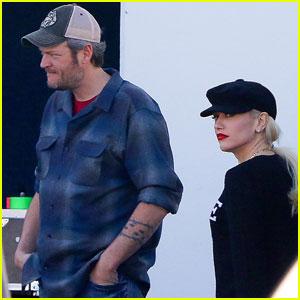 Blake Shelton & Gwen Stefani Hit the Studio Together