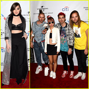 Hailee Steinfeld Hangs With DNCE at Grammys 2016 After Party