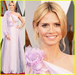 Heidi Klum Shows Off Massive Diamond Jewels at Oscars 2016