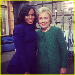 Hillary Clinton Stops By 'Scandal' Set, Takes Photos with the Cast!