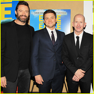 Hugh Jackman & Taron Egerton Bring The Real Life 'Eddie The Eagle' To NYC!