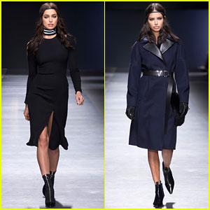 Irina Shayk & Adriana Lima Walk the Versace Runway in Milan