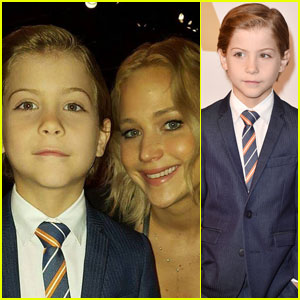 Jacob Tremblay Snaps Selfie With Jennifer Lawrence at Oscars 2016 Nominee Luncheon