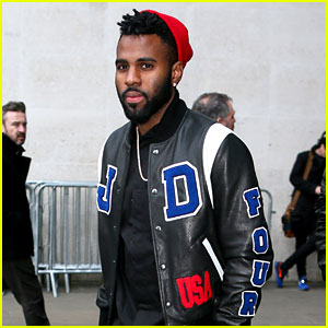 Jason Derulo Stops By Radio 1 in a Custom Tour Jacket to Promote His UK Tour