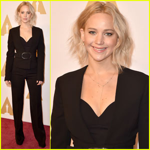 Jennifer Lawrence Stays Sophisticated for Oscars 2016 Nominee Luncheon