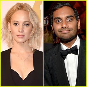 Jennifer Lawrence & Aziz Ansari Had a Friendly Dinner on Valentine's Day: Details