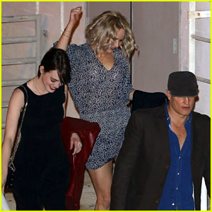 Jennifer Lawrence Dances Out of Adele's Concert with Emma Stone