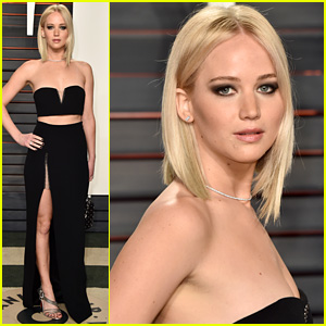 Jennifer Lawrence Shows Off Some Leg at Oscars 2016 Vanity Fair Party!