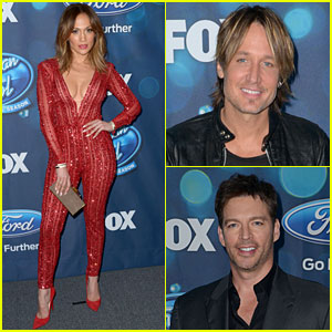 Jennifer Lopez Looks Red Hot in a Jumpsuit at 'Idol' Party