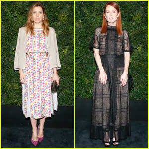 Jessica Biel Goes Floral at the 'Chanel' Pre-Oscar Dinner