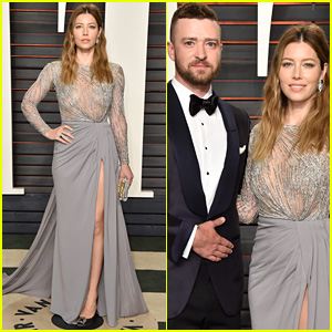 Justin Timberlake & Jessica Biel Step Out at Oscars 2016 Vanity Fair Party!