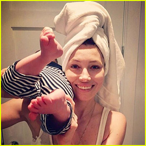 Jessica Biel Holds Son Silas in Super Cute Photo!