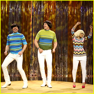 Jimmy Fallon, Will Ferrell & Christina Aguilera Fight Over Their 'Tight Pants' in Hilarious Sketch - Watch Now!