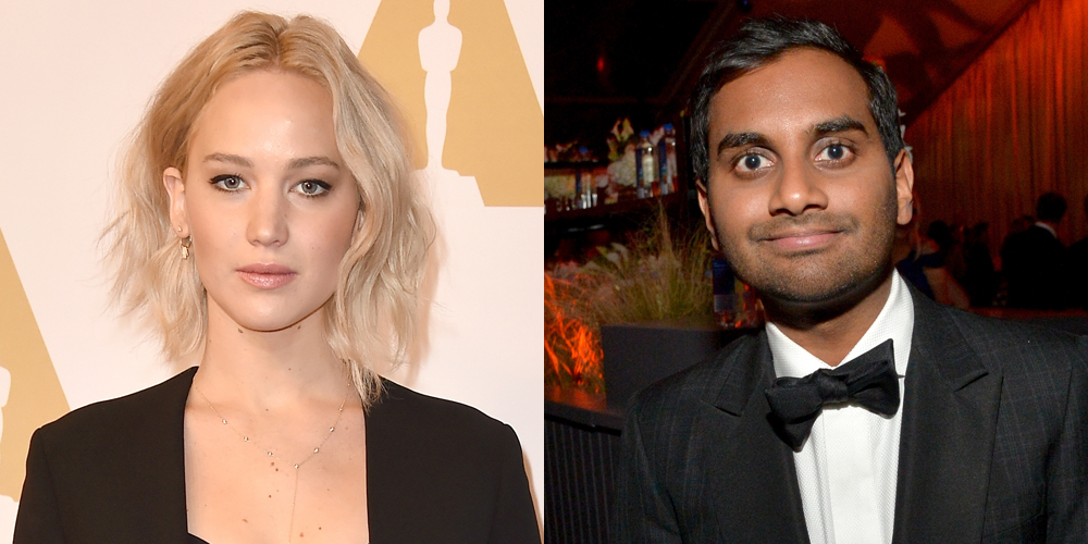 jennifer lawrence dating aziz Does jennifer lawrence have a new man the hunger games star was spotted hanging out with aziz ansari in italy over the weekend, sparking rumors of a potential romance according to people, lawrence.