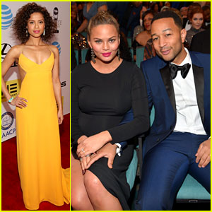 John Legend Gets Support from Pregnant Chrissy Teigen at NAACP Image Awards 2016!