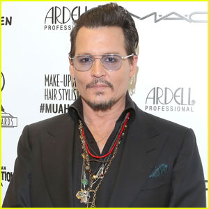 Johnny Depp Presents Award at Makeup Artist & Hair Stylist Guild Awards 2016