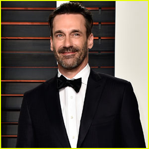 Jon Hamm Sports Sexy Scruff At Vanity Fair S Oscars 2016 Bash 2016 Oscars Parties Jon Hamm Just Jared