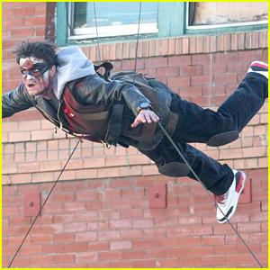 Josh Hutcherson Films High-Flying Stunt For DJ Snake's Music Video