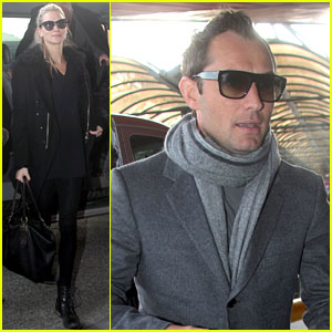 Jude Law Jets Out of Berlin with Girlfriend Phillipa Coan