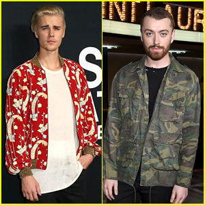 Justin Bieber Snaps a Photo with a Musical Legend During Saint Laurent at the Palladium