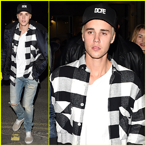 Justin Bieber Rocks a 'Dope' Hat While Partying in London