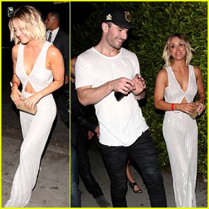 Kaley Cuoco & Sam Hunt Leave Grammys 2016 After Party Together