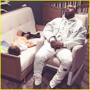 Kanye West & Daughter North Fell Asleep While Shopping with Kim Kardashian! (Photo)