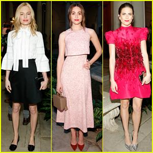 Kate Bosworth & Emmy Rossum Witness 'Grecian Goddess Magic' At Carolina Herrera NYFW Show!
