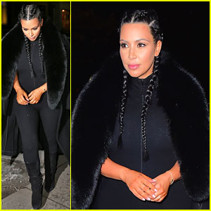 Kim Kardashian Flaunts Post-Baby Body in Skin-Tight Bodysuit!