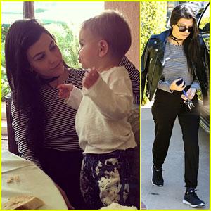 Kourtney Kardashian Has a Lunch Date with Baby Boy Reign