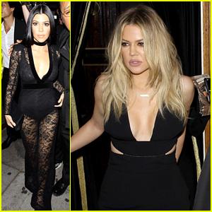 Kourtney Kardashian Attends Justin Bieber's Grammys 2016 After Party
