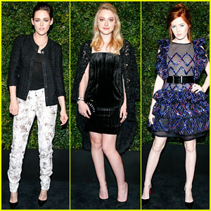 Kristen Stewart & Dakota Fanning Reunite at Pre-Oscar Dinner!