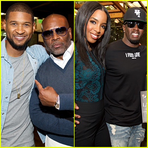 Usher, Kelly Rowland, & Diddy Celebrate with L.A. Reid at His Pre-Grammys Brunch!