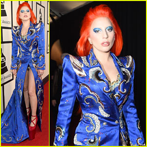 Lady Gaga Wears David Bowie-Inspired Outfit at Grammys 2016!