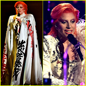 Lady Gaga's David Bowie Tribute at Grammys 2016 (Video)
