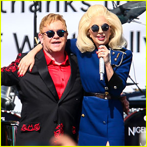 Lady Gaga Performs with Elton John at Surprise Concert (Video)