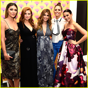 Lea Michele Supports Jamie Lynn-Sigler & Multiple Sclerosis At DVF Shopping Event